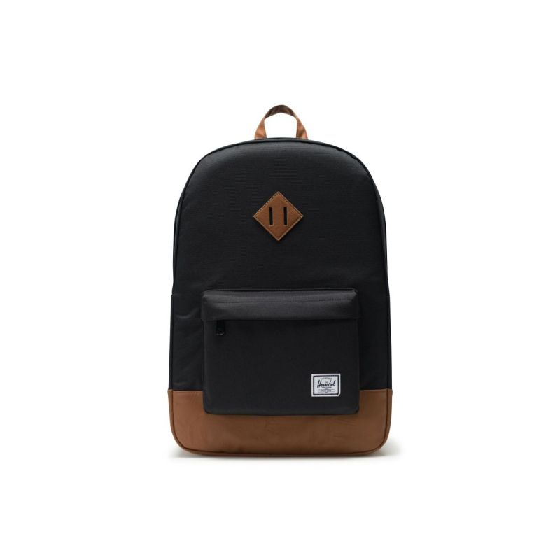 15b2f571ed4 Sac à Dos Heritage Black Tan Synthetic Leather - Herschel