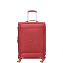 Valise Spinner Chartreuse 68 cm Souple Rouge - Delsey