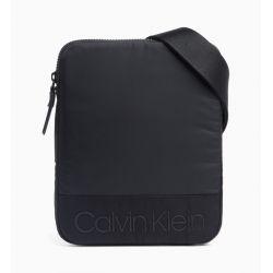 Sacoche Plate Noir en Toile - Calvin Klein