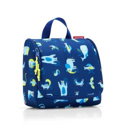 Trousse de Toilette Toiletbag Kids ABC Friends Blue en Toile - Reisenthel