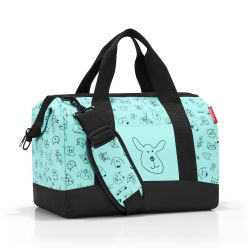 Sac de Voyage Allrounder M Kids Cats And Dogs Mint en Toile - Reisenthel