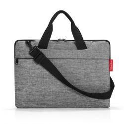 Sacoche Ordinateur Netbookbag Twist Silver en Toile - Reisenthel