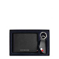 Coffret Cadeau Business Portefeuille + Porte-Clés en Cuir - Tommy Hilfiger