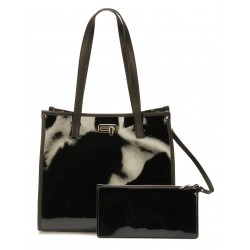 Sac shopping Cuir vernis Katy