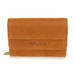 Porte monnaie et cartes cuir Mocca - M61-467