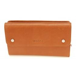 Compagnon porte chéquier cuir Mocca - M58-197