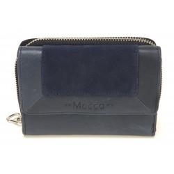 Porte monnaie et cartes cuir Mocca - M62-160
