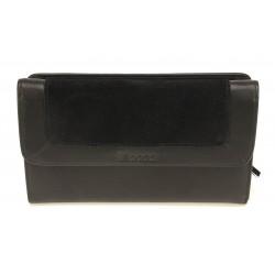 Compagnon porte chéquier cuir Mocca - M62-197