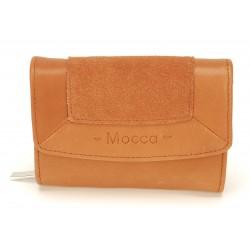 Porte monnaie et cartes cuir Mocca - M62-467